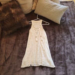 Cream crochet/embroidered dress